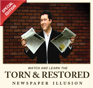 Torn &amp; Restored Newspaper Illusion DVD