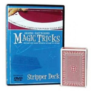 Amazing Magic Tricks Blue Stripper Deck with DVD
