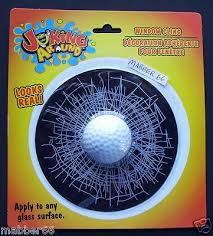 Golf Ball Broken Window Gag